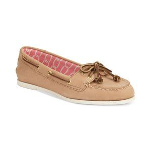 Sperry Top-Sider Tan Leather Audrey Boat Shoes